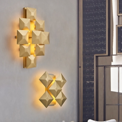 Gold Finish Post Modern Sconce Metal 13