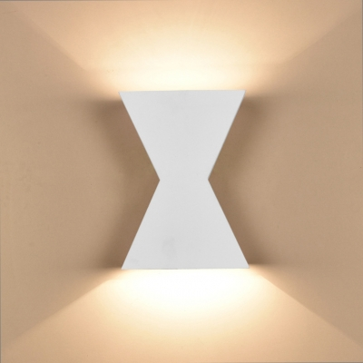 Matte Black/White Integrated LED Wall Lights Aluminum 5W Low Voltage Geometric Art Deco Sconces for Bathroom Bedroom Corridor Foyer