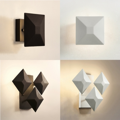 Trendy Designer Wall Light Adjustable 1Lt/3Lt Metal Led Wall Sconce in Black/White Indoor Home Restaurant Decorative Wall Lighting