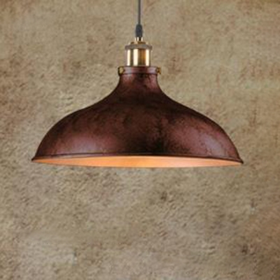 12 2 Inch Wide Metal Dome Shade Single Head Pendant