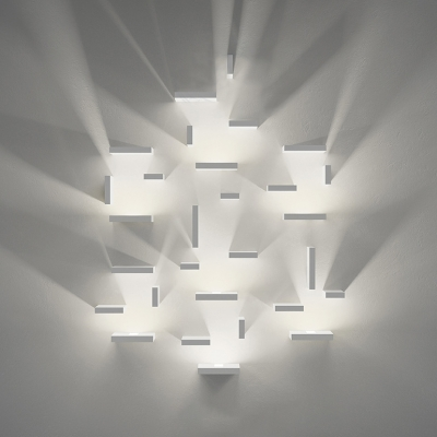 Art Decoration Changeable Modern Led Wall Light White Finish 7W Metal Rectangular Led Sconce with Warm White Light Different Size Available for Stairways Gallery Office Hallway