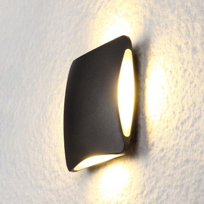 Modern Outdoor Sconce Lighting Black Finish Aluminum Alloy Square Led Wall Light 12W High Bright Inside-Out Sconces for Hallway Porch Front Door Corridor