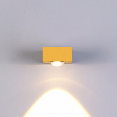 New Post Modern Mini Gold Led Sconces Up/Down Lighting Single/Two Light Brushed Aluminum Wall Sconce for Bedside Stairs Corridor