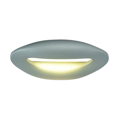 Geometric Led Wall Light Textured Black/White/Gray 11.8 Inch Long Aluminum 9W Oval Led Wall Sconces for Restaurant Cafe Bar