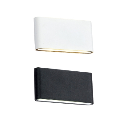 Minimalistic LED Up Wall Light 6W/12W Dual Head High Bright Modern Sconces in Matte