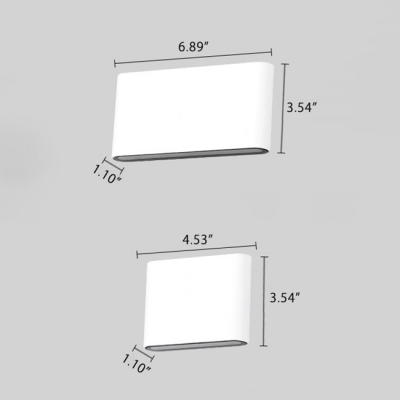 Minimalistic LED Up and Downlight Frame Wall Light 6W/12W Dual Head High Bright Modern Sconces in Matte Black/White for Living Room Besides Under Cabinet Outdoor Wall Light