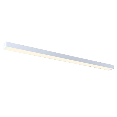 Architectural Linear Fixture in Modern Style White Finish Led Linear Flush Mount Light 16-20W White Light 6000K LED Down Lighting Mounted Lights for Office Conference Room Hallway Garage