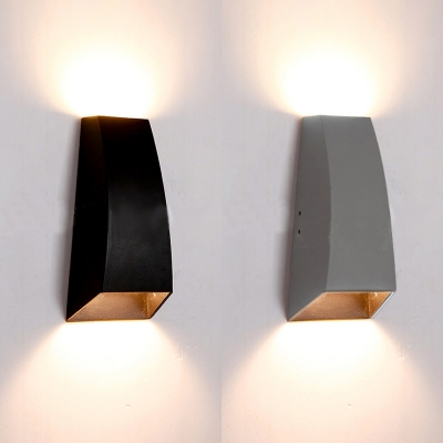 Geometric Led Wall Light Fixture Low Wattage 6w Energy Saving 2 Light Led Up Down Lighting Black