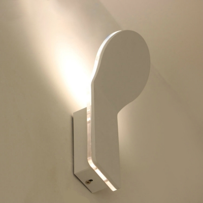 Small LED Corridor Hallway Wall Light White Aluminum 8W Outward Light Direction 1 Light Bend Led Wall Sconce