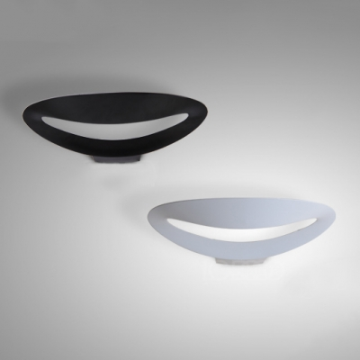 Magic Designers' Lights Decorative Hollow Oblong Led Wall Light 6W-10W 13.39 Inch Wide Aluminum Up Lighting Sconces in Black/White for Balcony Corridor Bedside