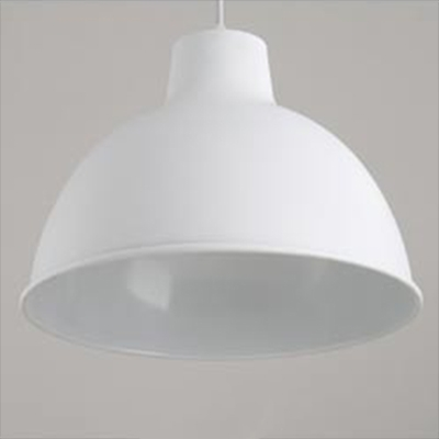 White Finish Downrod Drop Light in Simple Style for Coffee House Restaurant 2 Sizes for Option
