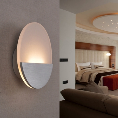 Art Deco Wall Sconces 6w 6 50 Quot Width Acrylic Round Led
