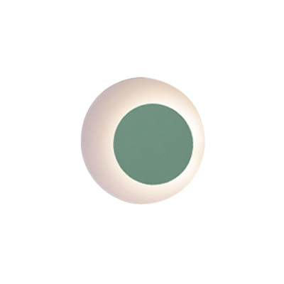 Minimalistic Macaroon Pink/Blue/Yellow/Green Eclipse Led Wall Light Metal Rotative Ambient Led Wall Sconce for Indoor Any Dark Room Balcony Stairs