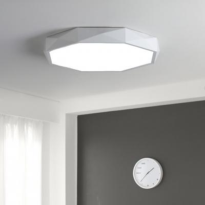White Led Octagon Ceiling Light