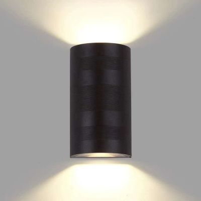 Textured Black Aluminum 6W Small Led Wall Mounted Lights 6.30