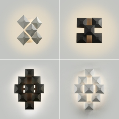 Trendy Designers Lighting Matte Black/White 5 Light/9 Light Led Wall Sconce 13