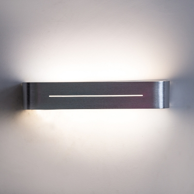 Color Changeable Modern Indoor Wall Light Brushed Silver Max 12W Led Linear Wall Sconce Reading Room Stairways Porch Light