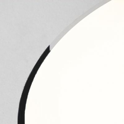 Low Profile Lighting Post Modern Design Led Lighting Black Ultra-thin Round Flush Mount Lighting 10/16/22W LED High Brightness Circle Ceiling Fixture Light for Studio Clothing Store Office Conference Room