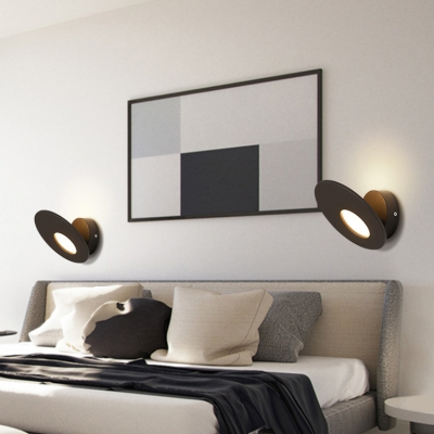 Modern Matte White/Black Oblong Led Wall Lighting 7.08