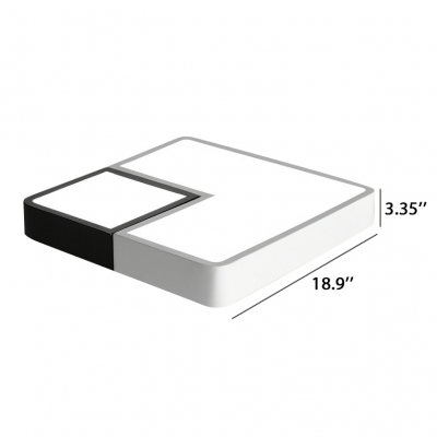 New Creative Bright and Cool Square Led Ceiling Mount Lighting Hot Selling Geometric LED Bedroom Living Room Hallway Surface Mount Lighting 20/24/36W with Warm White Lighting