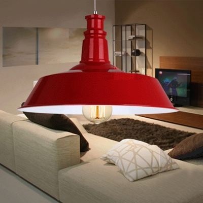 Industrial Barn Pendant Light in Retro Style with 18.11''W Metal Shade