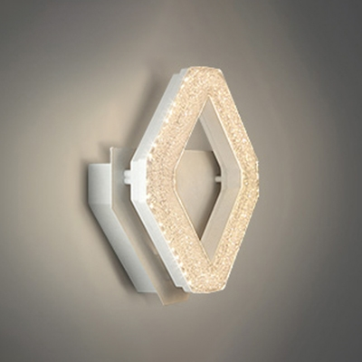 Art Deco Aluminum Led Crushed Ice Wall Sconce Modern Round/Prism Led Indirect Wall Lighting for Bedroom Foyer Front Door