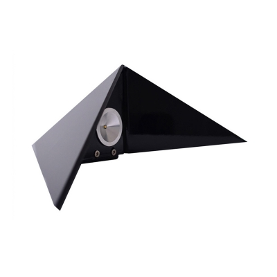 Integrated LED Inside Out Wall Light Black/White Triangle Shaped 3W Low Wattage Sconce Metal Decorative Pyramid Wall Lighting for Bedroom Living Room Corridor Stairs