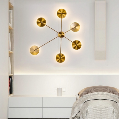 Polished Gold Round Led Wall Light 12W 39.37