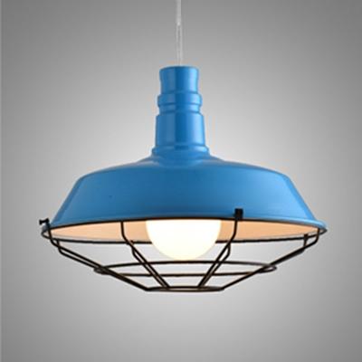 Simple Style 1 Light White/Black/Blue/Green/Orange Finished Barn Restaurant LED Pendant Lighting