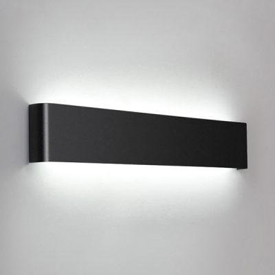 Art Deco Wall Light Black Finish Brushed Aluminum Led
