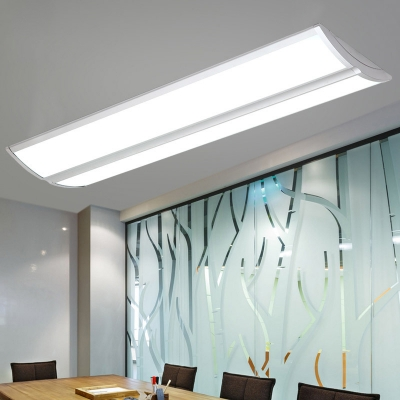 Modern Office Lighting L48 Xw11 8 Xh1 96 Aluminum Led Linear Flush