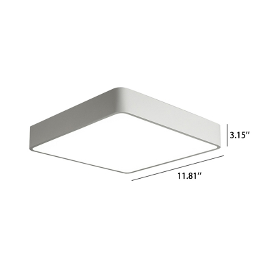 Nordic Style Black/White Minimalist Metal LED Square Flush Ceiling Light 24W Acrylic Lampshade Led Cube Surface Mounted Lamp for Bathroom Bedroom Living Room Studio Office