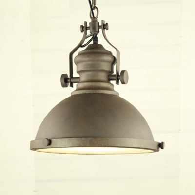 Single Light Nautical LED Pendant with Glass Diffuser for Barn