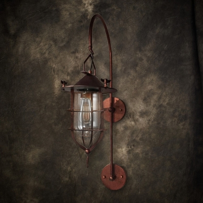 Antique Copper Ambient Lighting Indoor Lantern Style LED Wall Sconce