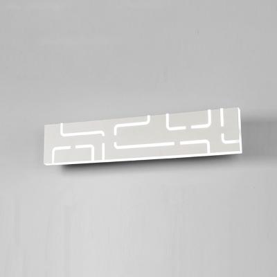 Modern Bathroom Light Fixtures Led Linear Vanity Light Acrylic Creative 14W/16W Edge Vanity Wall Bar in White Finish Modern Style Mirror Wac Wall Lighting