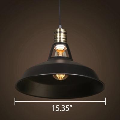 Vintage Style Satin Black Finish 1 Bulb