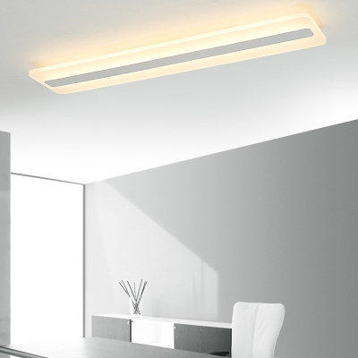 Creative Best Selling Acrylic Lampshade Led Linear Flush Light 15/30W Frameless Linear Fixture Surface-Mounted Light for Kitchen Dining Room Office Aisle