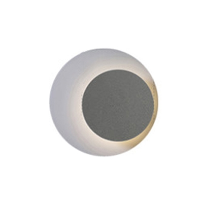 Designers Lighting Nordic Style Satin Black/White/Gray Led Wall Light Sconce Low Wattage 1lt Metal Corner Eclipse Led Wall Lights 2 Sizes Available