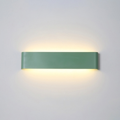 Macaroon Style Blue/Pink/Green Linear Led Wall Light 9.45