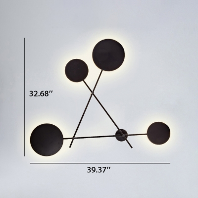 Minimalist Designers Lights 4-Led Black Finish 39.37