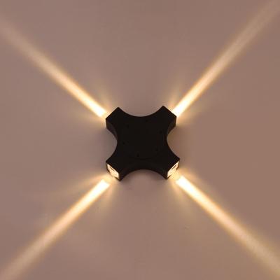 Directional Led Warm Light Modern Black Triangle/Cubic Aluminum 6.30