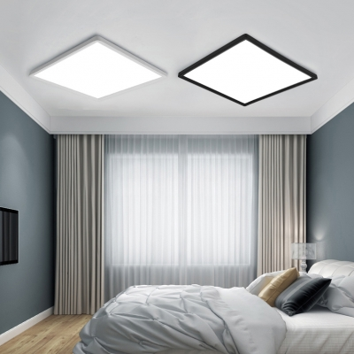 Minimalist Energy Saving 16W Led Square Flush Ceiling Light High Performance Flat Panel Led Recessed Lighting in Black/White Suitable for Office Garage Entryway Bathroom