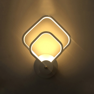 Modern and Fashion White Prism/Drop Led Wall Light 24W-25W/44W Aluminum Led Indirect Wall Sconces for Bedroom Living Room Stairs 3 Designs for Option