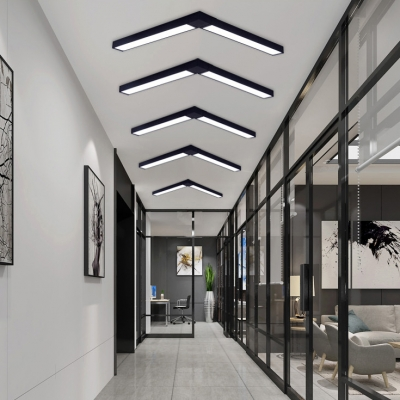 Modern Architectural Linear Fixture Black Finish Led