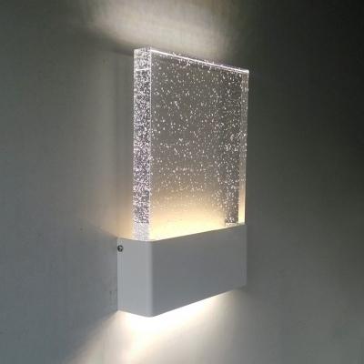 Modern Bubble Gl Led Wall Lighting 6 70 X9 44 5w Frame Sconce