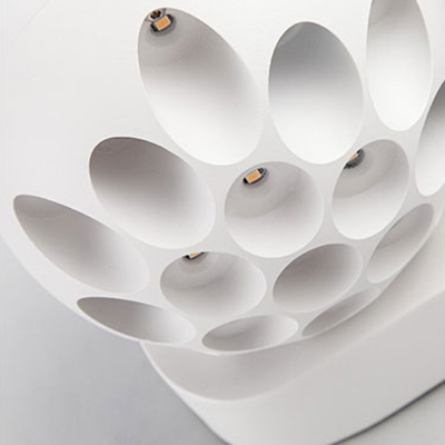 Creative Magic Modern Black/White Globe Led Wall Sconce Metal 6W-10W 4.72