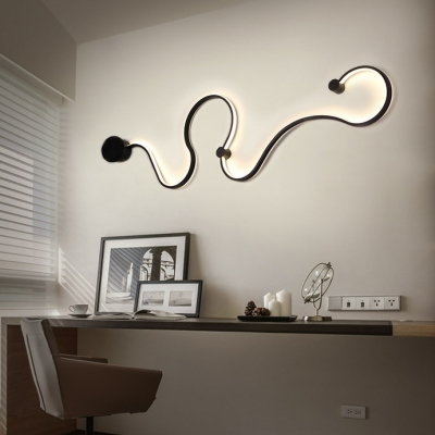 Indoor Home Decoration Modern Curved Wall Light 50.40