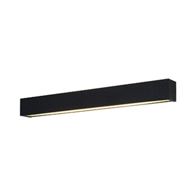 Black/White Modern Switch Type Led Up/Down Light Iron Linear Wall Sconce in Glass Lampshade Bathroom Vanity Light Bedroom Hallway Sconce Lighting