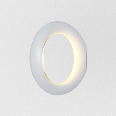 Post-Modern Minimalistic Light Guide Ring Led Wall Sconce 16W-20W Matte Black/White Steering Wheel Metal Led Ambient Wall Lighting Best Lighting for Bathroom Wac Stairways