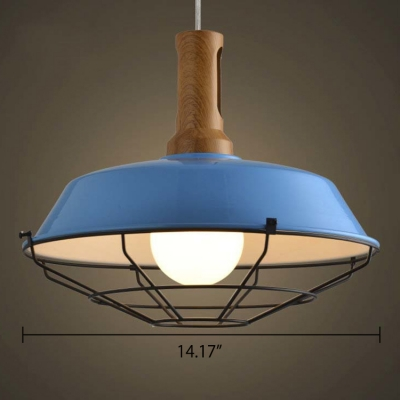 Wood Accented Barn Style 1 Light 10''/14